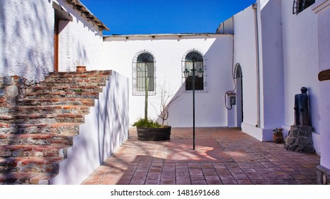 El Cafayate, Argentina - September 15, 2018: Scenic streets and colonial architecture of El Cafayate city in North Argentina