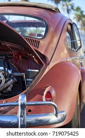 El Cajon, CA/USA - September 14, 2016: Cajon Classic Cruise is a Southern California  car show held weekly April-October. Today's theme is VW Mania and this is a classic Beetle with full sunroof
