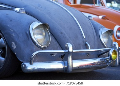 El Cajon, CA/USA - September 14, 2016: Cajon Classic Cruise is a Southern California  car show held weekly April-October. Today's theme is VW Mania and these are classic beetles