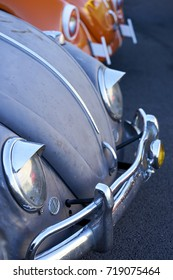 El Cajon, CA/USA - September 14, 2016: Cajon Classic Cruise is a Southern California  car show held weekly April-October. Today's theme is VW Mania and these are examples of classic beetles