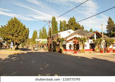 EL CALAFATE, ARGENTINA-NOV. 17, 2012:  A small town located near Los Glaciares National Park and the massive Perito Moreno Glacier.