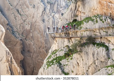 'El Caminito del Rey' (King's Little Path), World's Most Dangerous Footpath reopened in May 2015. Ardales (Malaga), Spain.