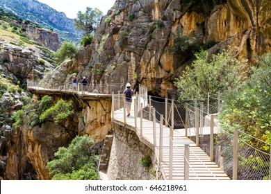 El camino del rey which means the path of the king - was one of the most dangerous path in the world before renovation. Located near Malaga, Andalucia, Spain