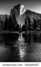 El Capitan in Yosemite National Park in Black and White