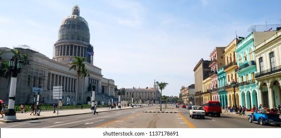 El Capitolio (National Capitol Building) in Havana, Cuba (30.06.2018)