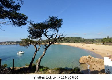 El Castell beach, Costa Brava, Girona province, Catalonia, Spain