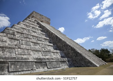 El Castillo Pyramid at Chichen Itza in Mexico