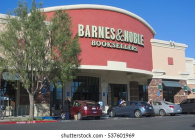 EL CERRITO, CALIFORNIA - DECEMBER 16, 2016: Barnes and Noble is enticing shoppers this year with tablet pillows, Harry Potter books, and toys in addition to the usual array of coffee table books.