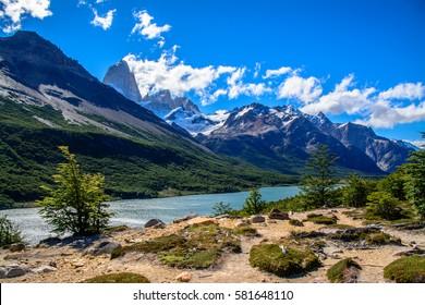El Chalten Fits Roy mount Los Glaciares National Park Argentina patagonia