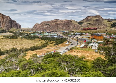 El Chalten, small mountain village in Santa Cruz Province within the Los Glaciares National Park at the base of Fitz Roy mountains in Southern Patagonia, Argentina
