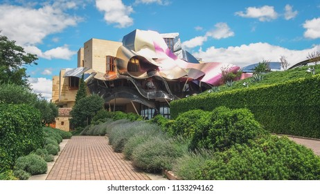 El ciego, Alava, Spain, September 2011, Hotel Marques de Riscal. This hotel is famous for its wineries, vineyards and wine, it is located in the famous area of La Rioja, known for its fine wines