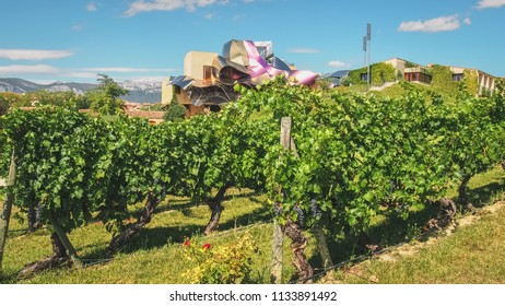 El Ciego, Alava, Spain, september 2011. Marques de Riscal hotel, famous for its vineyards and wine cellars