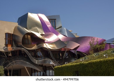 EL CIEGO, ALAVA,MARQUES DE RISCAL - August 05th 2014:Sunny day in the cellar