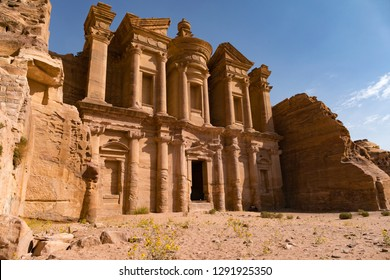 El Deir monastery. City of Petra. Jordan.