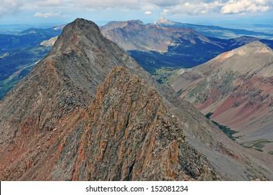 El Diente Peak as viewed from Mount Wilson Summit, Rocky Mountains, Colorado