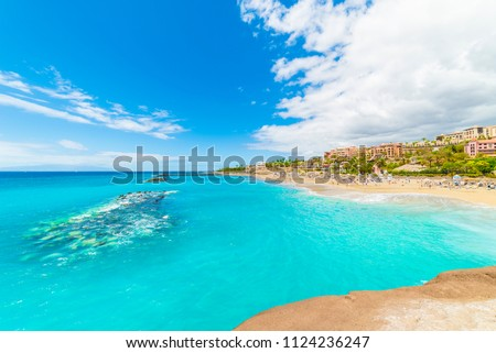 El Duque beach at Costa Adeje. Tenerife, Canary Islands, Spain