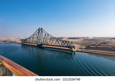 El Ferdan Railway Bridge. Suez Canal, Egypt.