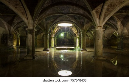 EL JADIDA, MOROCCO - MAY 8: Cistern in the Portuguese fortress of El Jadida, Morocco on May 8 2016.