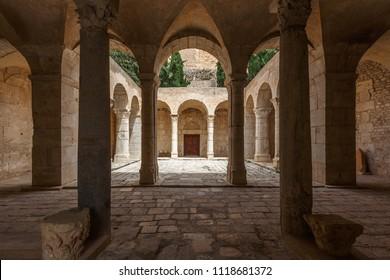 EL KEF / TUNISIA - JUNE 2015: Medieval byzantine church interior in El Kef town, Tunisia