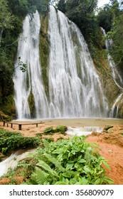El limon waterfall, Samana peninsula, Dominican republic