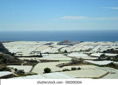 """El mare plastico"" - greenhouses in Almeria, Spain"