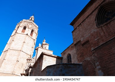 El Micalet cathedral in Valencia . Belfry of catholic church