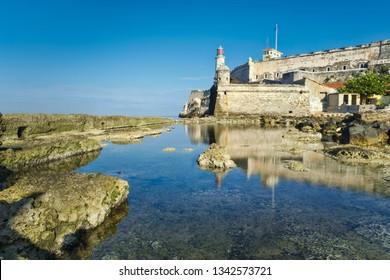 El Morro lighthouse and castle, a symbol of Havana