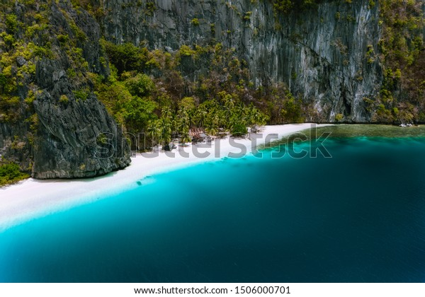 El Nido Palawan Philippines Aerial Drone Stock Photo Edit