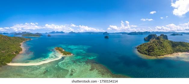 El Nido, Palawan, Philippines Beautiful Scenery. a Tropical Island Paradise in Southeast Asia.
