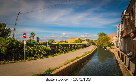 El Palmar / Spain - October 28, 2018: The touristic town El Palmar, which is well known for its landscapes, restaurants and boat trips around the Albufera, which is a natural park in Valencia.