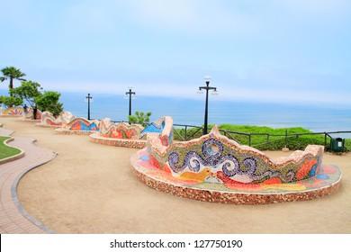 El Parque del Amor, love park in Miraflores, Lima, Peru
