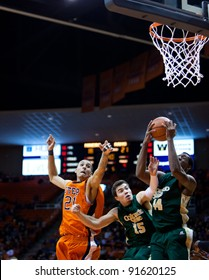 EL PASO – DECEMBER 28: Smith of Colorado State University rebounds the ball during the Sun Bowl Invitational in the 56 to 53 win of University of Texas El Paso on December 28, 2011 in El Paso, Texas.