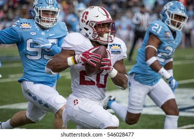 EL PASO ?? DECEMBER 30.   Bryce Love with the ball during the University of North Carolina v Stanford in the Hyundai Sun Bowl, Dec 30, 2016 El Paso, Texas.