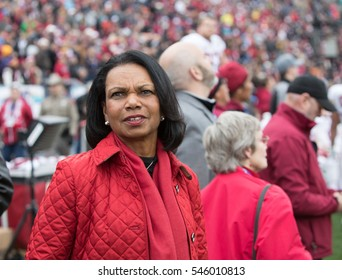 EL PASO  DECEMBER 30.  Condoleezza Rice enjoying the Hyundai Sun Bowl, Dec 30, 2016 El Paso, Texas.