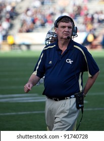 EL PASO – DECEMBER 31:  Georgia Tech's Paul Johnson, Head Coach, walks off the field during UTAH's overtime 30 to 27 win over Georgia Tech at the Sun Bowl on December 31, 2011 in El Paso, Texas.