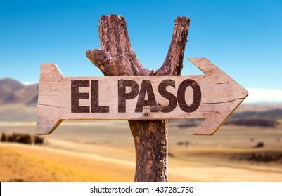 El Paso directional arrow in a desert