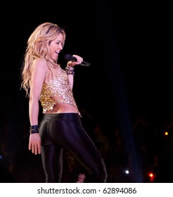 EL PASO - OCTOBER 12: Singer Shakira performs onstage at the Don Haskins Center on the UTEP campus on October 12, 2010 in El Paso, Texas.