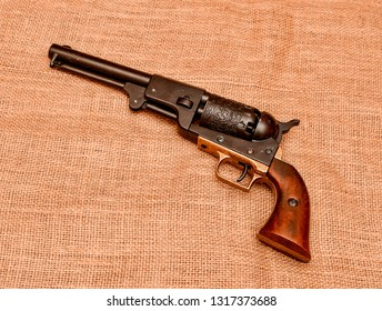 El Paso, Texas - 19 February 2019: Replica model of a Colt Model 1848 Percussion Army Revolver is a .44 caliber revolver designed by Samuel Colt for the U.S. Army's Regiment of Mounted Rifles.