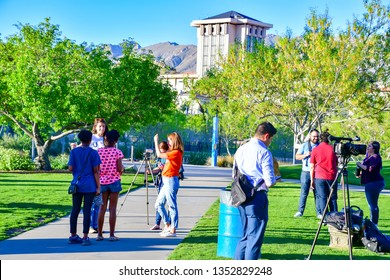 El Paso, Texas - 28 March 2019: UTEP We the Students CoalitionProtesting UTEP President finalist Heather Wilson, ex U.S. Secretary of the Air Force.