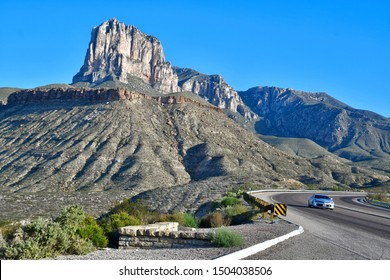 El Paso, Texas / USA Circa September 2019 El Capitan, the 10th-highest peak in Texas at 8,085 ft (2,464 m), El Capitan is part of the Guadalupe Mountains, an exposed portion of a Permian period reef.
