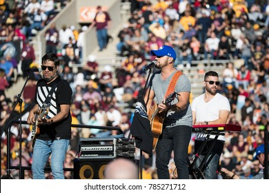 EL PASO, TX – DECEMBER 29. County Singer Frank Ray performs during the halftime show of the Hyundai Sun Bowl in El Paso, Texas – 29 Dec 2017
