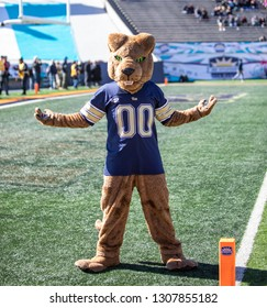EL PASO, TX – DECEMBER 31.  Pitt Panther's mascot at the Sanford v Pitt, Hyundai Sun Bowl in El Paso, Texas – 31 Dec 2018