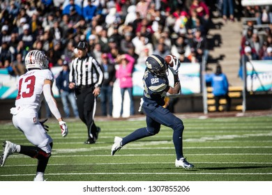 EL PASO, TX – DECEMBER 31.  Pitt's Araujo-Lopes with the ball during the Sanford v Pitt, Hyundai Sun Bowl in El Paso, Texas – 31 Dec 2018