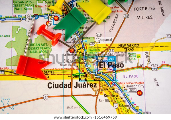 El Paso Usa Map Travel Background Stock Photo (Edit Now ...