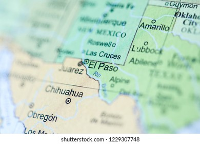El Paso. USA on a geography map