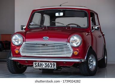 EL PINAR, CANELONES, URUGUAY 18/05/20 MINI COOPER CLASSIC CAR FRONT VIEW