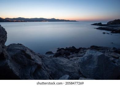 El Port de la Selva coast  by sunset Girona Catalonia Spain