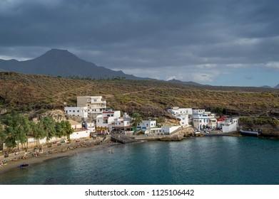 El Puertito bay, nice small beach, Tenerife, Canary islands.