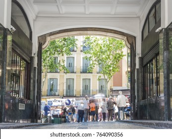 el rastro the typical street market of the city of Madrid