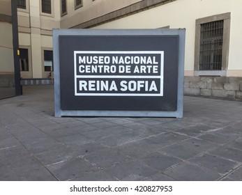 El Reina Sofia sign taken July 8, 2015 in Madrid, ES